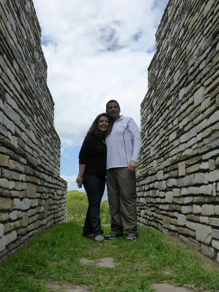 Jon and Delia at the Mayan Ruins