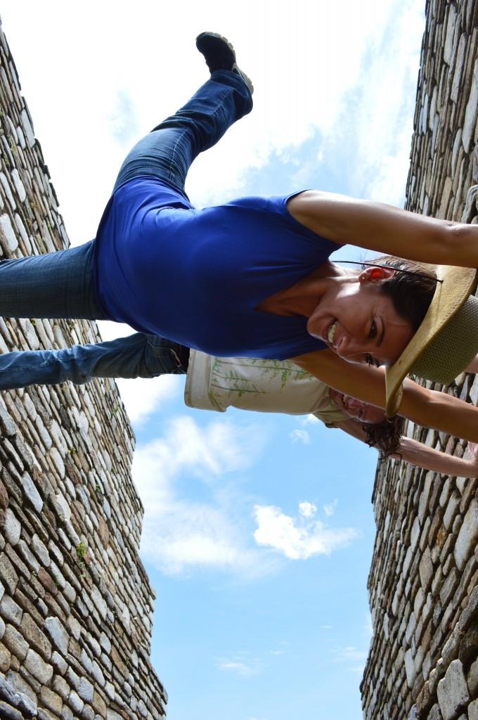 Having fun at the Mayan Ruins