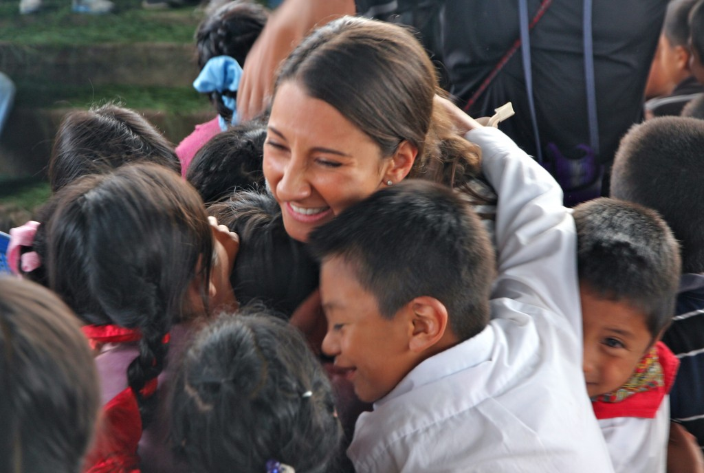 Group hug from kids in Varituc
