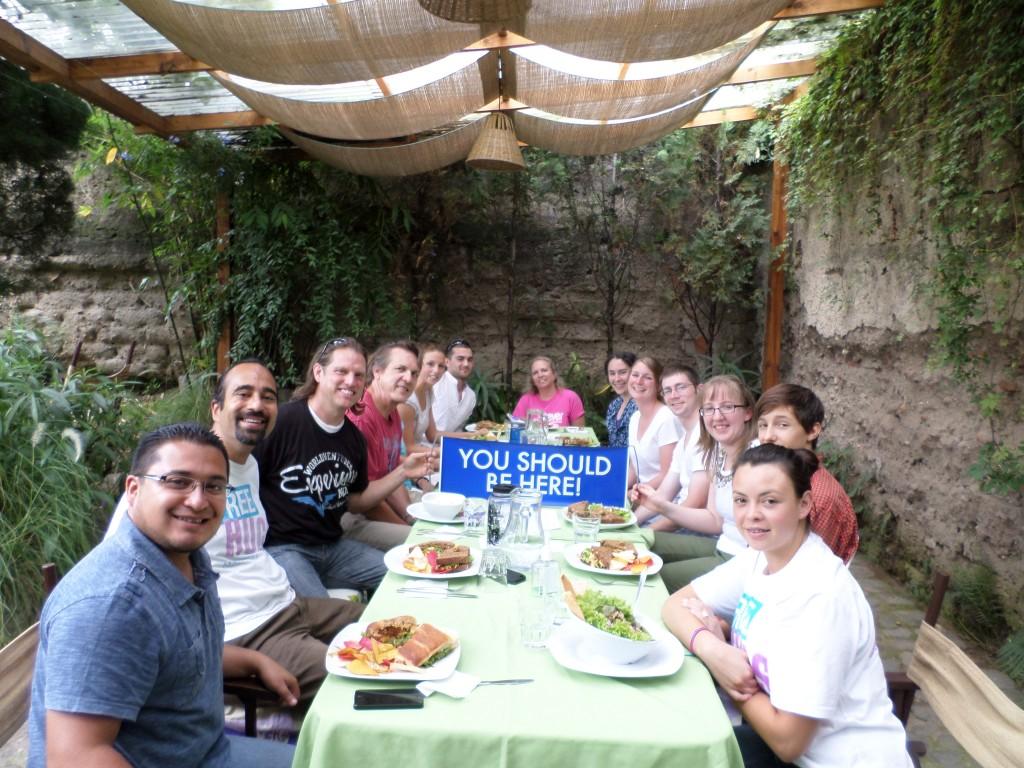 Having lunch in Antigua
